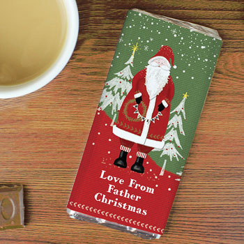 Personalised Father Christmas Chocolate Bar