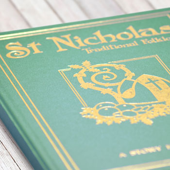 St Nicholas Traditional Folklore Embossed Personalised Book
