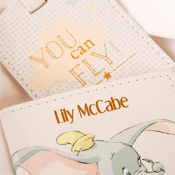 Personalised Dumbo My First Passport Holder and Luggage Tag