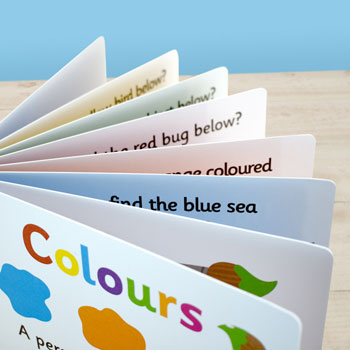 Personalised First Steps Learning Colours Board Book