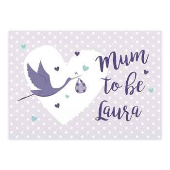 Personalised Mum to Be Stork Card Free Delivery