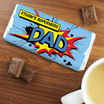 Personalised Comic Book Chocolate Bar