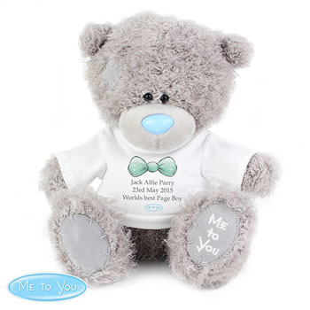 Personalised Me To You Page Boy Bear with Tee Shirt