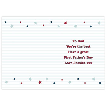 Personalised 1st Fathers Day Card Free Delivery