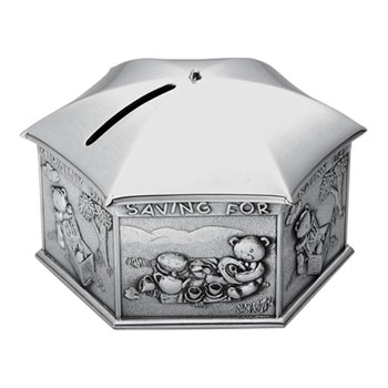 Royal Selangor Pewter 'Saving for a Rainy Day' Money Box