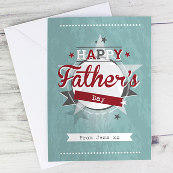 Personalised 50s Retro Greeting Card Free Delivery