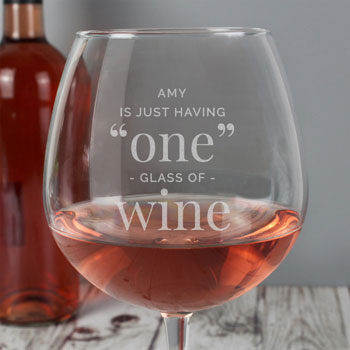 Personalised One Glass Whole Bottle of Wine Glass