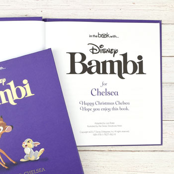 Personalised Disney Bambi Story Book and Gift Box