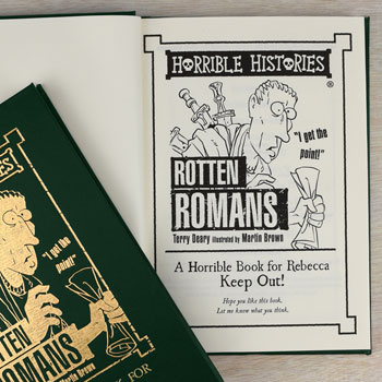 Personalised Horrible Histories Rotten Romans Hardback Book