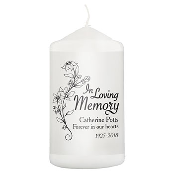 Personalised In Loving Memory Remembrance Candle