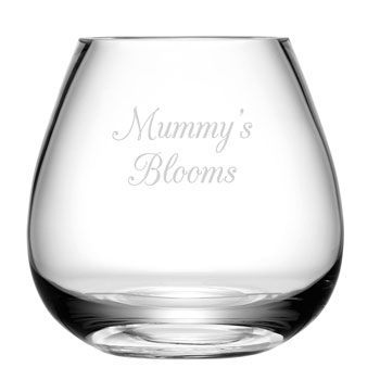Personalised Bouquet Vase by LSA International Glasswear