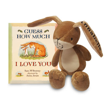 Personalised Guess How Much I Love You Book & Toy Set