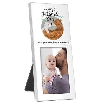 Personalised 1st Fathers Day Daddy Bear 2x3 Inch Frame
