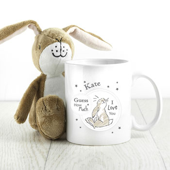 Personalised Guess How Much I Love You Sitting Hare Mug