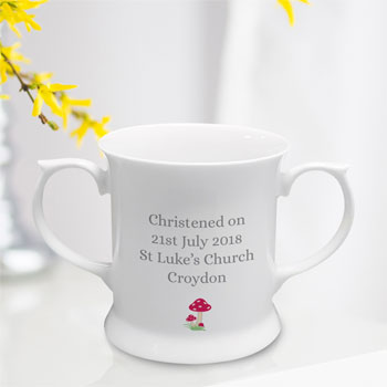 Personalised Woodland China Baby Loving Cup