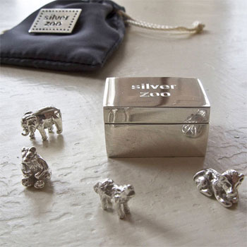 Personalised Sterling Silver Zoo Keepsake Box