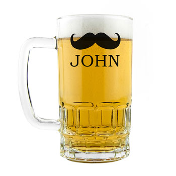 Personalised Moustache Pint Tankard