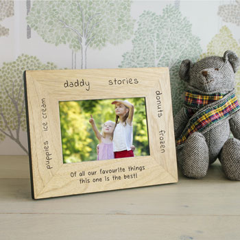 Personalised Favourite Things Photo Frame