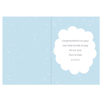 Personalised Ten Little Fingers Blue New Baby Boy Card