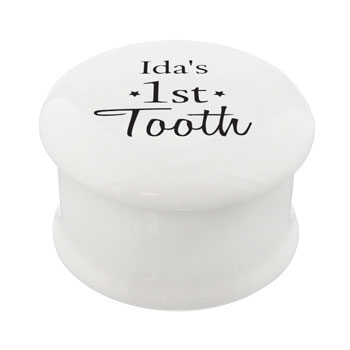 Personalised 1st Tooth Ceramic Trinket Box
