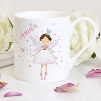 Personalised Bone China Fairy Princess Balmoral Mug