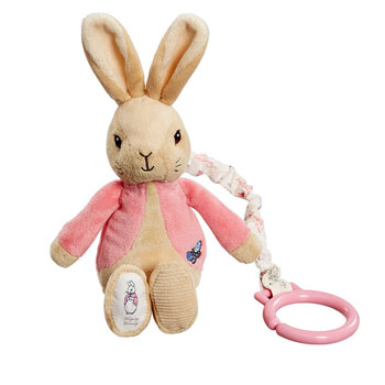 Flopsy Bunny Pink Baby Basket Bouquet