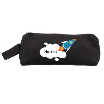 Personalised Rocket Ship Pencil Case