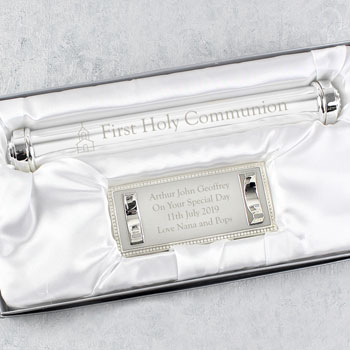 Personalised First Holy Communion Silver Plated Certificate
