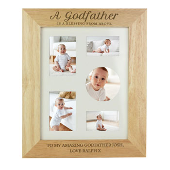 Personalised Godfather 8x10 Inch Wooden Photo Frame