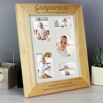 Personalised Godparents 8x10 Inch Wooden Photo Frame