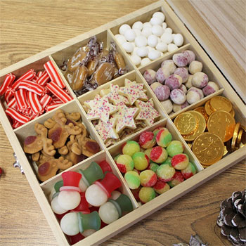 Personalised Family Sweets Colection Christmas Wooden Box