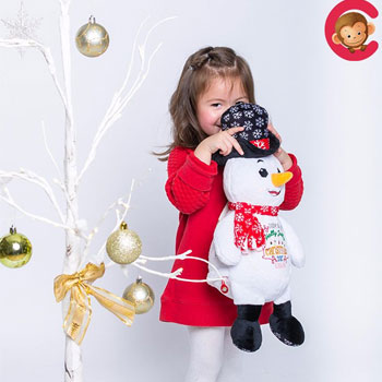 Personalised Cubbies Christmas Snowman Soft Toy