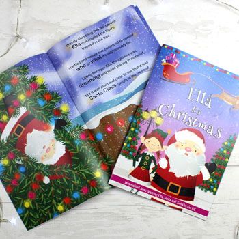 Personalised Girls Its Christmas Story Book