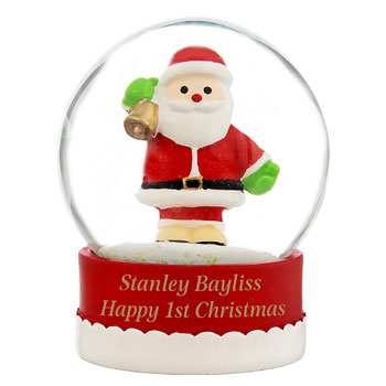 Personalised Father Christmas Snow Globe
