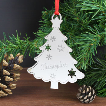 Personalised Any Name Metal Christmas Tree Decoration