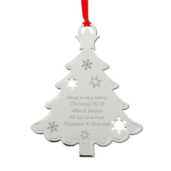 Personalised Any Message Metal Christmas Tree Decoration