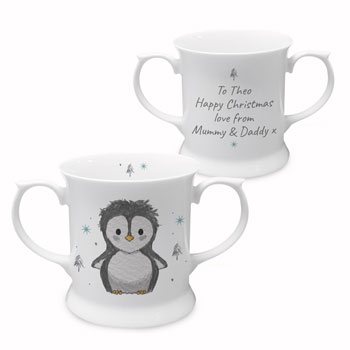 Pebbles the Penguin Personalised Christmas Loving Cup