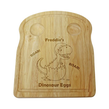 Personalised Dinosaur Egg and Soilders Wooden Board