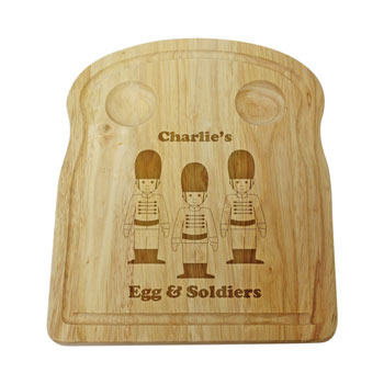 Personalised Wooden Soldiers Egg and Toast Board