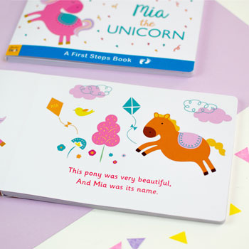 Personalised Unicorn Board Book