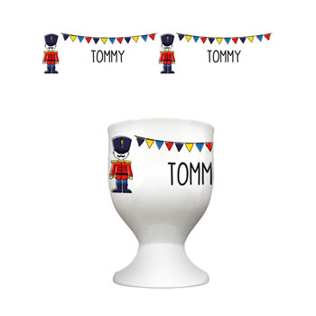 Personalised Soldier Bunting Egg Cup