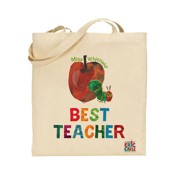 Very Hungry Caterpillar Best Teacher Personalised Tote Bag