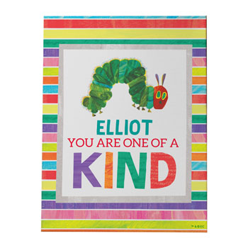 Very Hungry Caterpillar One Of A Kind Personalised Canvas