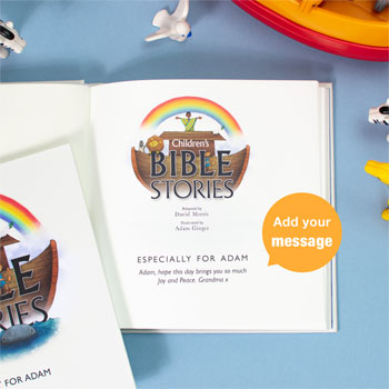 Personalised Childrens Bible Stories Book in Gift Box