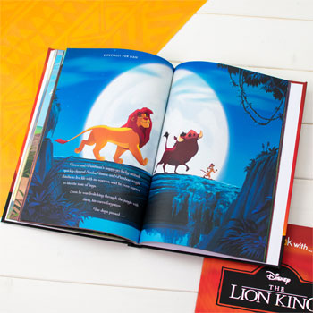 Personalised Lion King Premium Book & Soft Toy Baby Gift Set