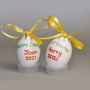 Personalised Bone China Hand Painted Easter Egg-Bauble