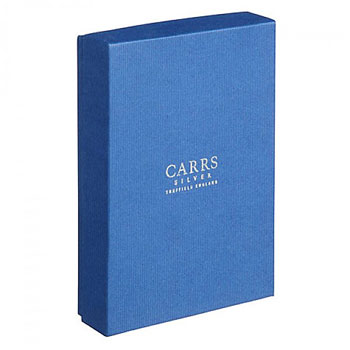 Plain Solid Silver Cross Gem Bible (White Leather) by Carrs