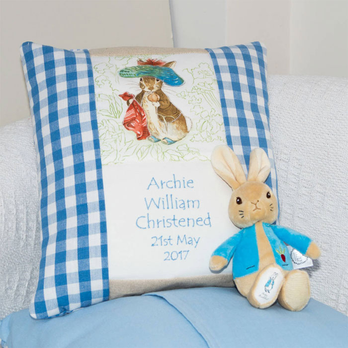 Personalised Beatrix Potter Cushion Choice of Characters