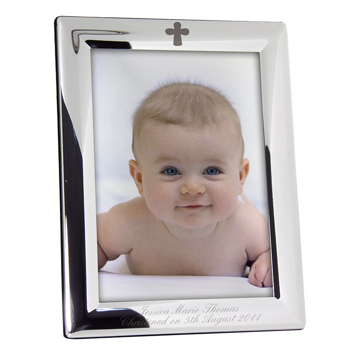 Personalised Engraved Cross Frame 5 x 7inch