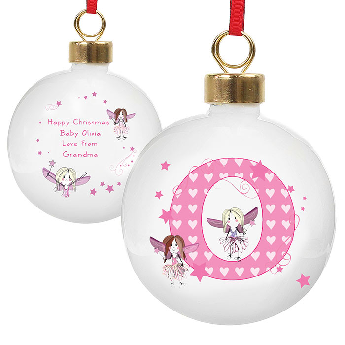 Personalised Fairy Initial Bauble